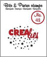 Crealies Clearstamp Bits en Pieces no. 43 sterretjes