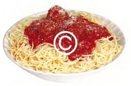 Spaghetti Bolognese- stans decoratie - 9x6 cm