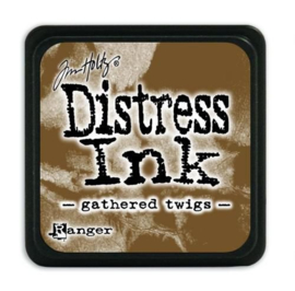 Mini  Distress inkt - Gathered Twigs - waterbased dye ink / inkt op waterbasis - 3x3 cm