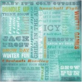 Winter wonderland - spelen in de sneeuw papier 30.5 x 30.5 cm