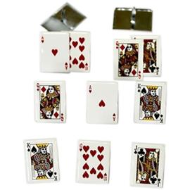 Cards / kaartspel splitpen decoratie - zakje 12 stuks