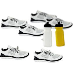 Sneakers splitpen decoratie - zakje 12 stuks