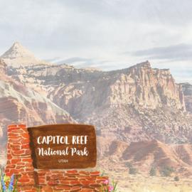 Capitol Reef National Park / Utah - dubbelzijdig scrapbook papier - 12x12 inch