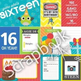 16 Today! - scrapbookpapier - 30.5x30.5 cm