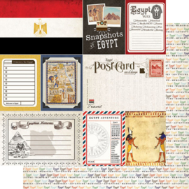 Egypt  scrapbook papier - 12 x 12 inch - scrapbook customs