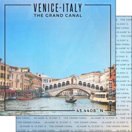 Venice  - The Grand Canal - scrapbook papier
