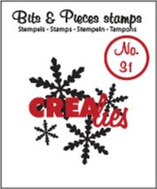 Crealies Clearstamp Bits en Pieces no. 31 Sneeuwvlok 1