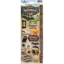 Paper House productions scrapbook stickers halloween hauntings