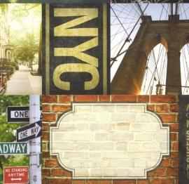 New York  tags papier 30.5 x 30.5 cm