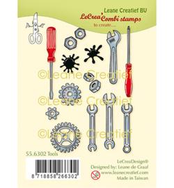 Tools / Gereedschappen - Thema clear stempels (13-delig)