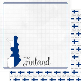 Finland - Adventure Border - 12 x 12 Paper