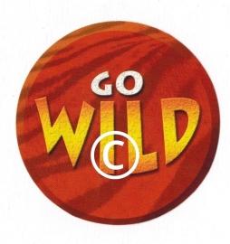 Go Wild tekst  - stans decoratie - 7x7 cm