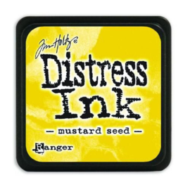 Mini  Distress inkt - Mustard Seed - waterbased dye ink / inkt op waterbasis - 3x3 cm