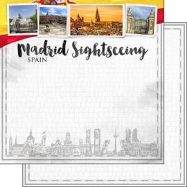 Madrid City Sights - dubbelzijdig scrapbook papier