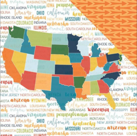 Discover USA map