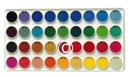 Kleuren verfdoos  - stans decoratie - 9.5x5 cm