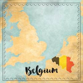 Belgium Map Sights- scrapbook papier