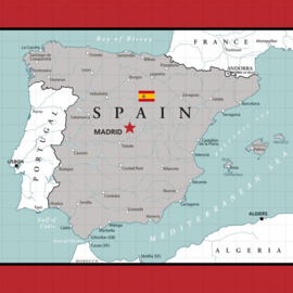 Spain Adventure Map - scrapbook papier