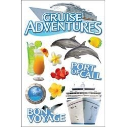 Cruise  3D scrapbook stickers