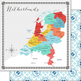 Netherlands - Memories Map - 12x12 inch