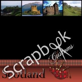 Scotland Scrapbookpapier met foto's - 12x12 inch
