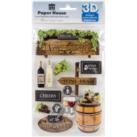 Paperhouse 3d sticker Wine Country