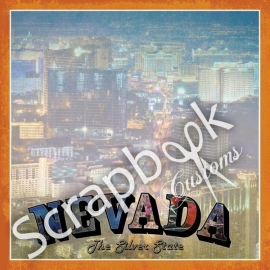 Nevada the silver state - scrapbook customs - papier 12 x 12 inch