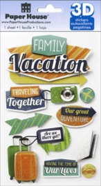 Family Vacation  - 3D stickers