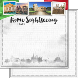 Rome Sightseeing - scrapbook papier