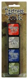 Stempelinkt op waterbasis Mini Distress inkt - set #5 kleuren 3x3 cm