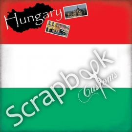 Scrapbook Customs - Wereld collectie - Hongarije - 12 x 12 inch papier