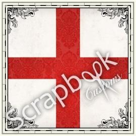 Scrapbooking Engelse Vlag papier 30.5 x 30.5 centimeter