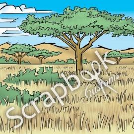 Savanna spread - links en rechts doorlopend papier - 30.5 x 30.5 cm