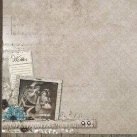 Sweet Winter Memories postcard papier 30.5x30.5 cm