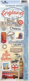 Discover-England - Cardstock Stickers