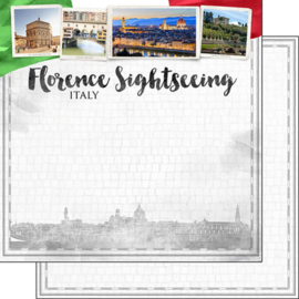 Florence Sightseeing - Scrapbookpapier - dubbelzijdig 30.5 x 30.5 cm