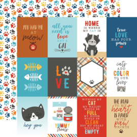 I Love my cat - Journal - dubbelzijdig katten papier 30.5 x 30.5 cm