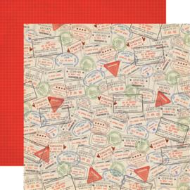 All Aboard Passport  Scrapbook papier pakket 12x12 inch (13-delig)