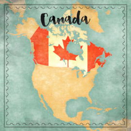 Canada Map Sights- dubbelzijdig scrapbook papier