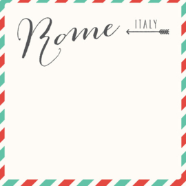 Rome Memories Air Mail Arrows - scrapbook papier