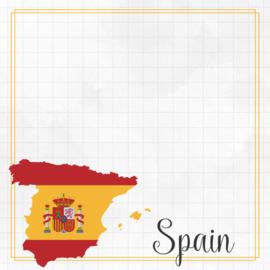 Spain Adventure border - dubbelzijdig scrapbook papier