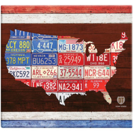 USA license plates - Scrapalbum met 10 insteekhoezen