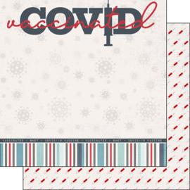 Covid Vaccinated  - dubbelzijdig 30.5 x 30.5 centimeter