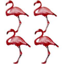 Flamingo splitpen decoratie - zakje 12 stuks