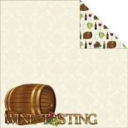 Wijn proeven wijnvat papier 30.5 x 30.5 cm