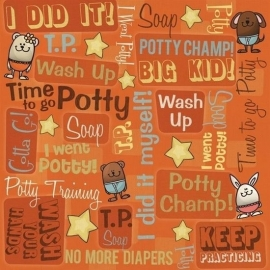 Potty Training kind zindelijk 30.5 x 30.5 cm