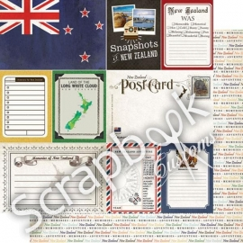 New Zealand - Scrapbook Journal 12x12 inch Papier