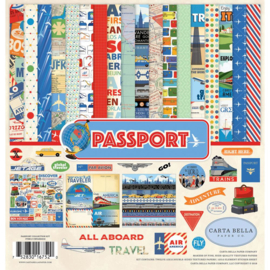 All Aboard Passport  Scrapbook papier pakket 12x12 inch (13-delig)