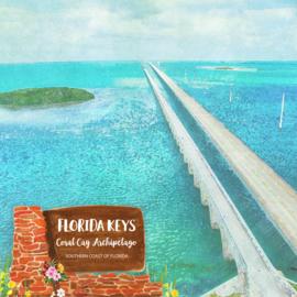 Florida Keys - dubbelzijdig - 12x12 Papier - scrapbook customs