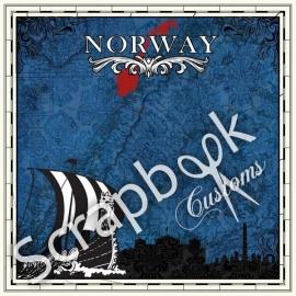 Noorwegen Sightseeing - papier 30.5 x 30.5 centimeter